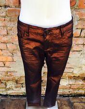 Metallic Maroon low waist skinny jeans by i Buffalo size 12