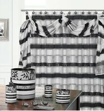 Venezia Gray High Quality Scarf Shower Curtain Made with 100% polyester.
