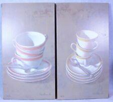 """Coffee Break II & III By Fabrice De Villeneuve 24"""" X 13"""" Wall Hangings Art 1/995"""