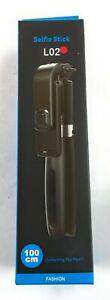 L02 Red Selfie Stick Bluetooth Tripod with Wireless Remote Shutters
