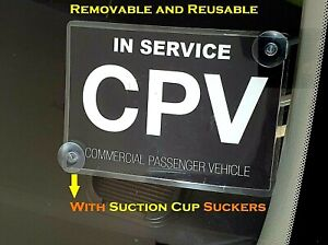 Premium CPV commercial passenger vehicle Victoria Sticker sign Suction Cup Cling