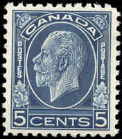Mint NH Canada 1932 VF Scott #199 5c King George V Medallion Stamp