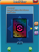 Energy Spectrum Card Sleeve for Pokemon TCG Online PTCGO, Digital Card