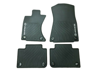 LEXUS GS 2013-2019 4PCS BLACK ALL WEATHER FLOOR MATS AWD PT206-30121-20