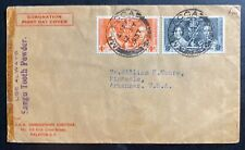 1937 Malacca Straits Settlements first day cover King George VI Coronation KG6