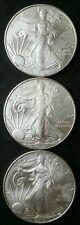 Lot of Three 2010 $1 American Silver Eagle Dollars