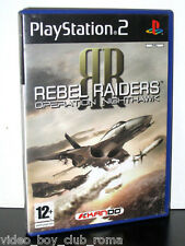 REBEL RAIDERS OPERATION NIGHTHAWK GIOCO USATO PS2 ED ITA MANUALE MANCANTE PG795