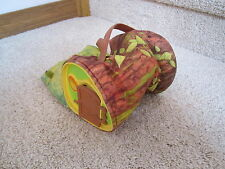 Vintage Fisher Price Woodsey Squirrel Family log wood tree home house woodsy toy