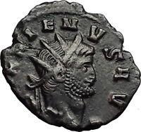 Gallienus Valerian I son Authentic Ancient  Roman Coin  Jupiter Rare  i58487