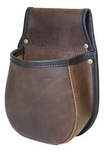 Shotgun Cartridge Pouch Distressed Brown Leather Hornstone holds 50 x 12g shells