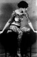 Antique Circus Nude Tattoo Lady Photo 863 Oddleys Strange & Bizarre