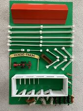 Mid Century Horse Farm Play Set with Elastolin Horse & Tootsie Toy Ford Tractor