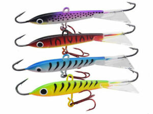 4Pcs Ice Winter Fishing Lures Jig Lead Hard Trout Fish Articifial Bait 8.3cm/18g