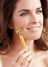 24K Gold Pulse Bar For Skin Care - Lift Bar Wrinkle And Eyebag Remover
