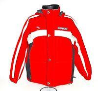 Karbon Mens Size Medium Red Nylon Ski Snowboard Insulated Lined Jacket  K2105