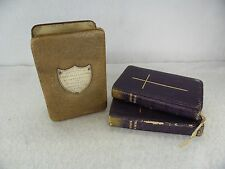Silver Fronted Leather Cased c.1900 Cowes Book of Hymns & Common Prayer
