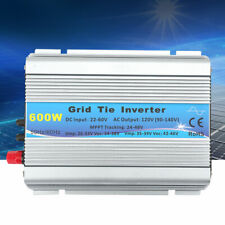 600W Grid Tie Pure Sine Wave Household Solar Power Inverter 22-60V US Plug 120V