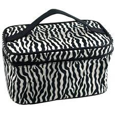 Zebra Pattern Foldable Makeup Cosmetic Hand Case Bag L6