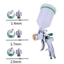 HVLP Paint Air Spray Gun Kit Gravity Feed Car Primer w/ 1.4MM 1.7MM 2.0MM Nozzle