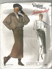 Vogue Sewing Pattern 1437, DANNY NOBLE Vintage Jacket, Shirt & Skirt, S 8 Uncut