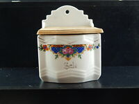 ANTICO PORTASALE PARETE PORCELLANA CERAMICA ART DECO LAVENO COUNTRY CHIC