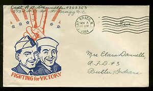 "1944 WW2 Patriotic Sherman #2202 Cachet Craft Publisher ""Free"" Fort Bragg, NC"