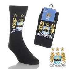 3 paia di Manchester City FC Ufficiale Ragazzi Calzini Taglia 4 - 6.5. IDEA regalo fab.