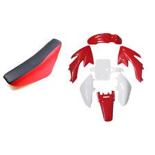 Red TALL SEAT & Plastic body kit For HONDA XR50 CRF50 SDG SSR 107 110 125CC