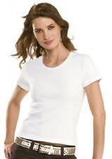 Waist Length Yes Crew Neck Basic T-Shirts for Women