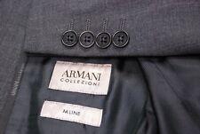 Mint New ARMANI COLLEZIONI recent M line men's suit gray flat front US 36R