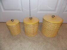 * Longaberger * 2010 Canister Set Combos (Baskets, Protectors, Lids) Butternut