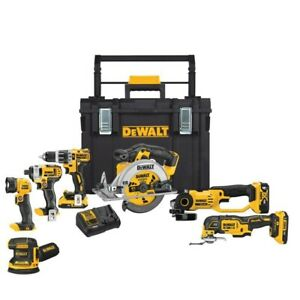 $1200 kit Dewalt 20-Volt MAX Lithium-Ion Cordless (7-Tool) with ToughSystem, New