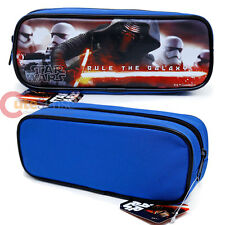 Disney Star Wars Pencil Case Zippered Cosmetic Pouch Bag Rule The Galaxy Blue