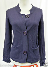 *MARILYN SEYB* Wool Blend Knit Cardigan 10 S Button Down Purple Winter Quality