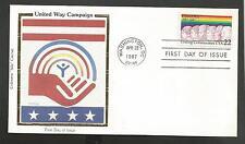UNITED WAY CAMPAIGN APR 28,1987 WASHINGTON  COLORANO SILK CACHET