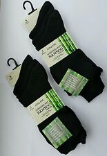 Multipack Ladies Women Bamboo Socks Extra Fine Silk Touch Luxuriously Comfy-4-7 Black 3 Pairs