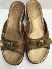 Cole Haan G Series Womens Slide Sandals Shoes Gold Bronze 8.5B