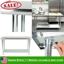 """24"""" x 60"""" Commercial Kitchen Stainless Steel Work Food Prep Table Undershelf New"""