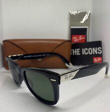 Ray-Ban 2157K Ultra Wayfarer Sunglasses Black 18K Gold Polarised 901/N5 RB2157-K