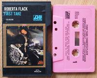 ROBERTA FLACK - FIRST TAKE (ATLANTIC CS8230) USA CASSETTE TAPE SLIPCASE PINK