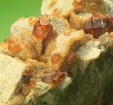 Gem Spessartine Garnet Crystals On Matrix Tongbei, Fujian Provence China