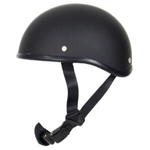 SOA Novelty Beanie Helmet Motorcycle Skull Cap Half Flat Black Biker Harley