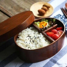 Japanese Bento Boxes Wood Lunch Box Wooden Sushi Tableware Bowl Food Container