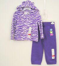 Purple Zebra Print Fleece Outfit Girls Sz 3T Jumping Beans NWT