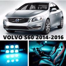 16pcs LED ICE Blue Light Interior Package Kit for VOLVO S60 2014-2016