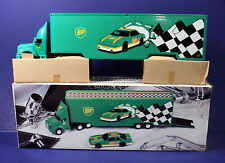 Bp Gas 1:35 Collector Transport Truck w/ Car, Lights & Great Graphics
