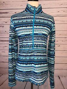 Nike Pro Dri-Fit Medium Long Sleeve 1/4 Zip pullover Aqua Running athletic shirt