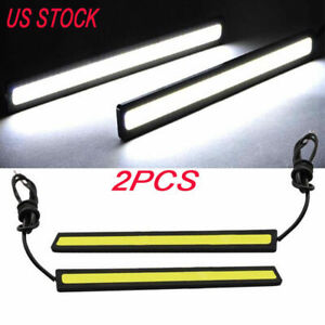 2x 12V LED Work Light Super Bright COB White Car DRL Fog-Driving Lamp Truck
