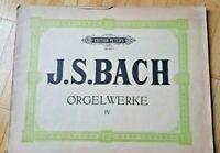 J.S.Bach Orgelwerke IV Edition Peters Nr. 243  Ausgabe 1951