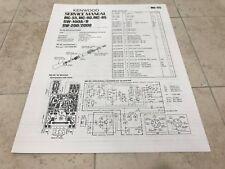Kenwood SW-200 SW-2000 SW-100 MC-55 MC-80 MC-85 Service Manual / Schematics
